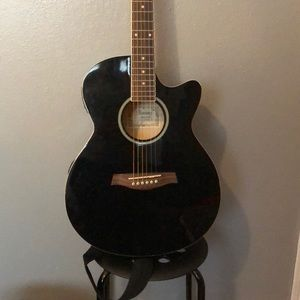 Used, Ibanez Acoustic Electric Guitar w/ bag & amplifier for sale